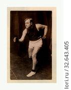 Tommy Burns. Photo G, 1912. Редакционное фото, фотограф ARTOKOLORO QUINT LOX LIMITED / age Fotostock / Фотобанк Лори