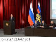 Купить «Выступает Президент Российской Федерации Владимир Путин», фото № 32647861, снято 9 марта 2017 г. (c) Free Wind / Фотобанк Лори