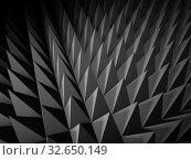 Купить «Abstract dark gray digital structure background 3d», иллюстрация № 32650149 (c) EugeneSergeev / Фотобанк Лори