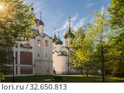 Купить «Saviour Monastery of St. Euthymius in Suzdal», фото № 32650813, снято 15 мая 2018 г. (c) Юлия Бабкина / Фотобанк Лори