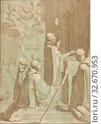 The Celebration of High Mass, c. 1776, Maria Katharina Prestel (German, 1747-1794), after Jacopo Vignali (Italian, 1592-1664), Germany, Etching and acquatint... Редакционное фото, фотограф ARTOKOLORO QUINT LOX LIMITED / age Fotostock / Фотобанк Лори