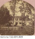 The Residence of George Bancroft, Tyngsboro', Mass., Bradt & Lindsey, 1880s, Albumen silver print (2019 год). Редакционное фото, фотограф ARTOKOLORO QUINT LOX LIMITED / age Fotostock / Фотобанк Лори