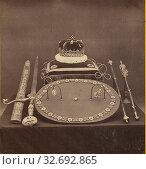 Купить «Regalia of Scotland, Archibald Burns (Scottish, 1831 - 1880), 1860s, Albumen silver print», фото № 32692865, снято 17 июня 2019 г. (c) age Fotostock / Фотобанк Лори