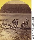 Купить «Labrador. Rigolette. Esquimaux(?) in winter dress., H.N. Robinson (American, active 1870s), 1880s, Albumen silver print», фото № 32700681, снято 17 июня 2019 г. (c) age Fotostock / Фотобанк Лори