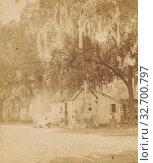 Negro Huts, David J. Ryan (American, born 1837), about 1870, Albumen silver print (2019 год). Редакционное фото, фотограф ARTOKOLORO QUINT LOX LIMITED / age Fotostock / Фотобанк Лори
