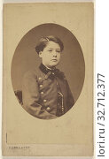 Unidentified young boy seated, printed in quasi-oval style, Pierre Petit (French, 1832 - 1909), 1865–1870, Albumen silver print (2019 год). Редакционное фото, фотограф ARTOKOLORO QUINT LOX LIMITED / age Fotostock / Фотобанк Лори