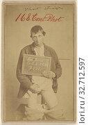 Michael Devin, Civil War victim, Unknown maker, American, United States, 1862–1872, Albumen silver print, 9.6 × 5.7 cm (3 3/4 × 2 1/4 in.) (2019 год). Редакционное фото, фотограф ARTOKOLORO QUINT LOX LIMITED / age Fotostock / Фотобанк Лори