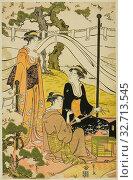 Купить «Viewing Cherry Blossoms at Goten Hill, c. 1787, Chobunsai Eishi, Japanese, 1756-1829, Japan, Color woodblock print, left sheet of oban triptych (right sheet: 1925.3091), 14 1/2 x 9 3/8 in.», фото № 32713545, снято 10 июля 2020 г. (c) age Fotostock / Фотобанк Лори