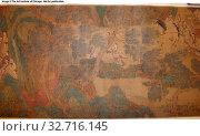 Купить «King Yu Moving a Mountain to Control the Floods, Qing dynasty (1644–1911), 18th century, Chinese, China, Handscroll, ink and color on silk, 29 × 373 cm», фото № 32716145, снято 10 июля 2020 г. (c) age Fotostock / Фотобанк Лори