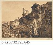 Mistra. Les ruines, Frédéric Boissonnas (Swiss, 1858 - 1946), Geneva, Switzerland, 1910, Heliogravure / Photolithograph, 10.7 × 15 cm (4 3/16 × 5 7/8 in.) (2019 год). Редакционное фото, фотограф ARTOKOLORO QUINT LOX LIMITED / age Fotostock / Фотобанк Лори