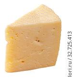 Купить «Piece of fresh semi-soft cheese», фото № 32725413, снято 27 февраля 2020 г. (c) Яков Филимонов / Фотобанк Лори