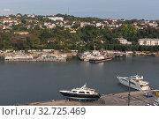 Купить «Южная бухта Севастопольского морского порта, Крым», фото № 32725469, снято 24 июля 2019 г. (c) Николай Мухорин / Фотобанк Лори