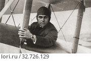 Купить «Herbert John Louis Hinkler, 1892-1933, aka Bert Hinkler and Australian Lone Eagle. Pioneer Australian aviator and inventor. From The Pageant of the Century, published 1934.», фото № 32726129, снято 25 мая 2020 г. (c) age Fotostock / Фотобанк Лори