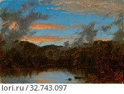 Купить «Mist Rising at Sunset in the Catskills, c. 1861, Sanford Robinson Gifford, American, 1823–1880, United States, Oil on canvas, 17.2 × 24.1 cm (6 3/4 × 9 1/2 in.)», фото № 32743097, снято 17 сентября 2019 г. (c) age Fotostock / Фотобанк Лори