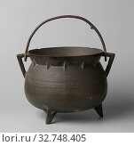 Купить «Cooking pot with two times three decorative rings., The fully molded object has a casting seam on the outside in the middle between the ears. The wide...», фото № 32748405, снято 20 февраля 2020 г. (c) age Fotostock / Фотобанк Лори