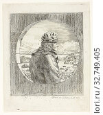 Voltaire Seen in Profile, n.d., Jean Huber, Swiss, 1721-1786, Switzerland, Etching on ivory laid paper, 212 x 160 mm (plate), 220 x 178 mm (sheet) (2019 год). Редакционное фото, фотограф ARTOKOLORO QUINT LOX LIMITED / age Fotostock / Фотобанк Лори