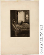 Awakening, plate eight from A Love, 1887, signed and dated in 1903, Max Klinger, German, 1857-1920, Germany, Etching and engraving on cream wove paper, 459 x 318 mm (plate), 803 x 572 mm (sheet) Редакционное фото, фотограф ARTOKOLORO QUINT LOX LIMITED / age Fotostock / Фотобанк Лори
