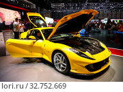 Купить «Ferrari 812 Superfast», фото № 32752669, снято 10 марта 2019 г. (c) Art Konovalov / Фотобанк Лори
