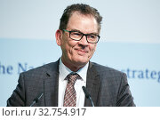 Berlin, Germany - Dr. Gerd Mueller, Federal Minister for Economic Cooperation and Development. (2019 год). Редакционное фото, агентство Caro Photoagency / Фотобанк Лори