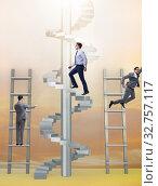 Купить «The competition concept with businessman beating competitors», фото № 32757117, снято 3 июля 2020 г. (c) Elnur / Фотобанк Лори