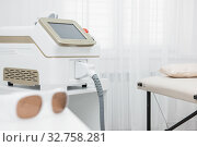 Room in spa center with laser epilation equipment. Стоковое фото, фотограф Jan Jack Russo Media / Фотобанк Лори