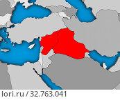 Islamic State on blue political 3D globe. 3D illustration. Стоковое фото, фотограф Zoonar.com/Tomas Griger / easy Fotostock / Фотобанк Лори