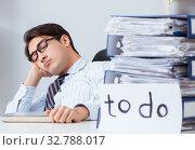 Купить «The businessman working on his to-do list», фото № 32788017, снято 24 ноября 2017 г. (c) Elnur / Фотобанк Лори