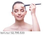 Купить «Young beautiful female fashion model with make up», фото № 32795533, снято 20 июня 2017 г. (c) Elnur / Фотобанк Лори
