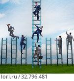 Купить «Competition concept with businessman beating competitors», фото № 32796481, снято 3 июля 2020 г. (c) Elnur / Фотобанк Лори