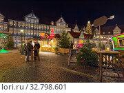 Рождественский базар в Вольфенбюттеле, Германия (2018 год). Редакционное фото, фотограф Михаил Марковский / Фотобанк Лори