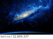 Stars and galaxy space sky night background. Стоковое фото, фотограф Евгений Ткачёв / Фотобанк Лори