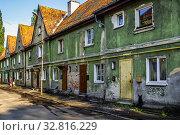 Купить «Россия, Калининград, старинные жилые дома немецкой постройки», фото № 32816229, снято 20 мая 2011 г. (c) glokaya_kuzdra / Фотобанк Лори
