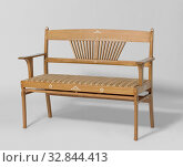 Sofa with inlaid heart-shaped motifs, Ash bench, inlaid with resin-shaped motifs in ivory. The nails that attach the pin and hole connections together... Редакционное фото, фотограф ARTOKOLORO QUINT LOX LIMITED / age Fotostock / Фотобанк Лори