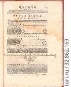 Seite 173 des Buches Delle fortificationi.von Lorini Buonaiuto, Page 173 of the 16th century book 'Delle fortificationi di Buonaiuto Lorini libri cinque... Редакционное фото, фотограф ARTOKOLORO QUINT LOX LIMITED / age Fotostock / Фотобанк Лори