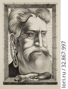 Reuben Kadish, American, 1913-1992, Old John Brown of Kansas, 1936, lithograph printed in black ink on wove paper, Image: 15 × 10 inches (38.1 × 25.4 cm) Редакционное фото, фотограф ARTOKOLORO QUINT LOX LIMITED / age Fotostock / Фотобанк Лори