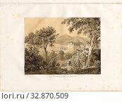 The Casbah of Bougia, Kasbah of Béjaïa, signed: A. Otth des. Et lith, impr, chez J.F. Wagner à Berne, Pl. XXII, Otth, Adolf (des. et lith.), Wagner, J... Редакционное фото, фотограф ARTOKOLORO QUINT LOX LIMITED / age Fotostock / Фотобанк Лори
