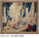 Купить «François Boucher, French, 1703-1770, Psyche Displaying Her Treasures to Her Sisters, 1744/1746, wool and silk, 143 1/2 x 159 3/4 in. (364.5 x 405.8 cm)», фото № 32882609, снято 6 июня 2020 г. (c) age Fotostock / Фотобанк Лори