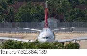 Купить «NordWind Airbus A330 taxiing», видеоролик № 32884189, снято 30 ноября 2019 г. (c) Игорь Жоров / Фотобанк Лори