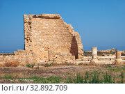 Купить «The remains of the ancient Roman House of Theseus. Paphos Archaeological Park. Cyprus», фото № 32892709, снято 8 июня 2018 г. (c) Serg Zastavkin / Фотобанк Лори