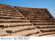 The tiered seating of Paphos Odeum. Paphos Archaeological Park. Cyprus (2018 год). Стоковое фото, фотограф Serg Zastavkin / Фотобанк Лори
