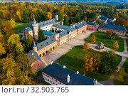 Купить «Neo-Gothic Sychrov Castle, Czech Republic», фото № 32903765, снято 18 октября 2019 г. (c) Яков Филимонов / Фотобанк Лори