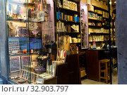 Shop of vintage writing implements. Стоковое фото, фотограф Яков Филимонов / Фотобанк Лори