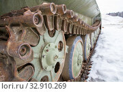 Купить «Элементы ходовой части  гусеничной техники», фото № 32910269, снято 7 марта 2015 г. (c) Илья Галахов / Фотобанк Лори