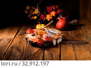 Купить «A delicious autumnal creamy hokkaido pumpkin puree», фото № 32912197, снято 13 июля 2020 г. (c) easy Fotostock / Фотобанк Лори