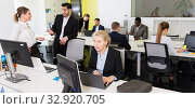 Купить «Business people working in coworking space», фото № 32920705, снято 10 марта 2018 г. (c) Яков Филимонов / Фотобанк Лори
