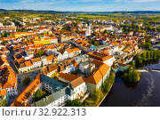 Купить «Historic center of Czech town of Pisek», фото № 32922313, снято 11 октября 2019 г. (c) Яков Филимонов / Фотобанк Лори