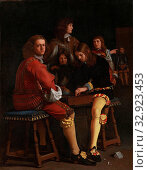 The Draughts Players, The drafts players. Group of five boys, two are seated on benches working on a game of checkers., Michael Sweerts, 1652, canvas,... Редакционное фото, фотограф ARTOKOLORO QUINT LOX LIMITED / age Fotostock / Фотобанк Лори