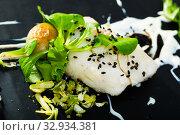Купить «French-style cod with vegetables», фото № 32934381, снято 23 февраля 2020 г. (c) Яков Филимонов / Фотобанк Лори