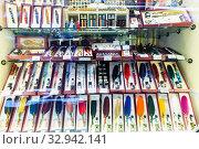 Vintage writing implements on showcase. Стоковое фото, фотограф Яков Филимонов / Фотобанк Лори