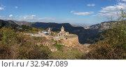 Armenia. Tatev Monastery against the backdrop of a majestic landscape. Стоковое фото, фотограф Степанов Илья / Фотобанк Лори